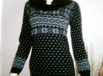 Black/White Cowl Neck Jumper